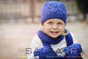 Детска шапка в синьо