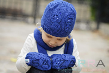Детски ръкавици в синьо