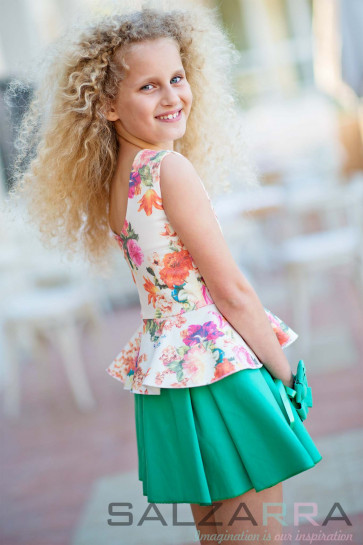 "Детска рокля ""Цветна поляна за Лили"" - 2"