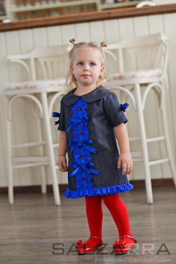 """Детска рокля """"Синьо настроение"""""""