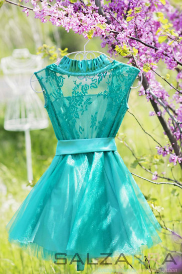 "Girl dress ""Forest walk with Ann""-1"