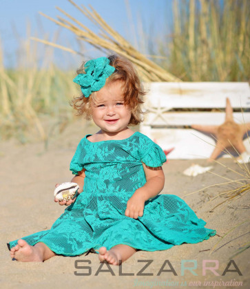 """Детска рокля """"Приказни цветя за Вики"""""""