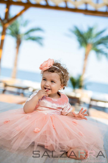 """Детска рокля """"Оранжево утро"""""""