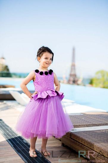 """Детска рокля """"Пурпурна кралица"""""""