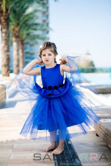 """Детска рокля """"Кралицата на нощта"""" 1"""