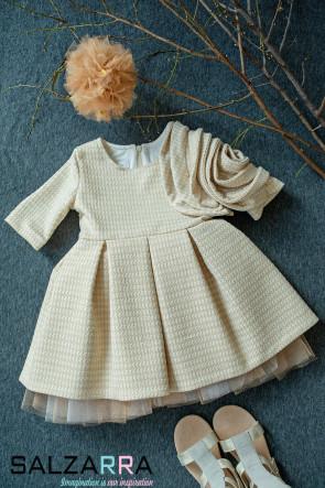 """Детска рокля """"ЗЛАТИСТА РОЗЕТТА"""""""