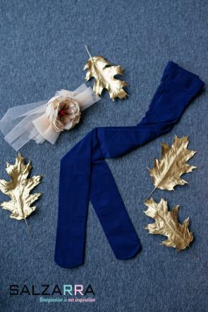 """Детски чорапогащник в синьо  """"SALZARRA"""" 1"""