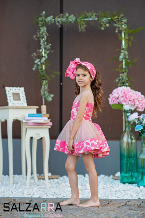 "Детска рокля ""НЕЖНА РОЗАЛИНА"" 5"