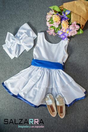 "Детска рокля ""СИНЯ МЕТЛИЧИНА""  1"