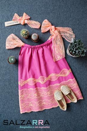 """Детска рокля """"НЕЖНА ЦИКЛАМА"""" 1"""