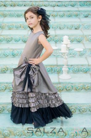 """етска рокля """"Нощта на принцеса Лиана в млечнокафяво""""- 1"""