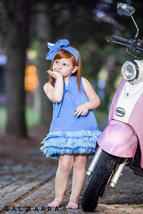 "Детска рокля ""ПРИНЦЕСА ЛЕБЕД"" blue edition  1"