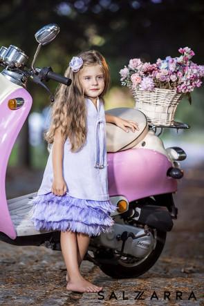 "Детска рокля ""ПРИНЦЕСА ЛЕБЕД"" purple edition  1"
