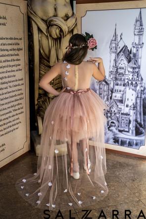"Детска Луксозна рокля ""РОЗОВА ГРАДИНА"" 1"