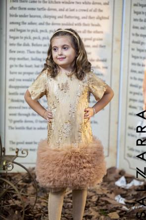 """Детска рокля """"ЗЛАТИСТ БЛЯСЪК"""" 3"""