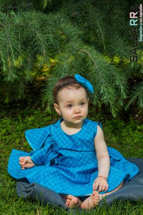 """Детска рокля """"КАРМЕН"""" /ярко синьо/ 3"""