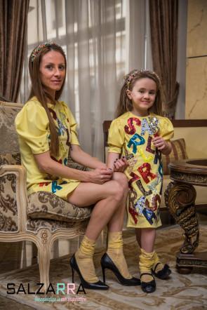 "Детски Луксозни Бутикови Чорапи ""БЛЕСТЯЩА SALZARRA"" 2"