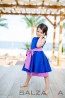 "Girl dress ""Blue Silence"" 1"