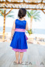 "Girl dress ""Blue Silence"" 2"