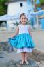 """Girl Dress """"Blue Summer"""" - 2"""