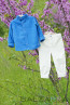 """Set """"TOMMY"""" – in electrical blue and cream - 3"""