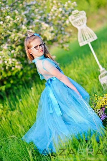 """Детска рокля """"Ариел танцува в облаци"""" - 2"""