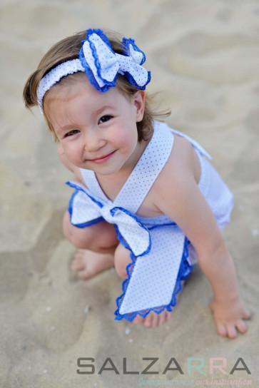 """Детска рокля """"Палавница в синьо""""l 1"""