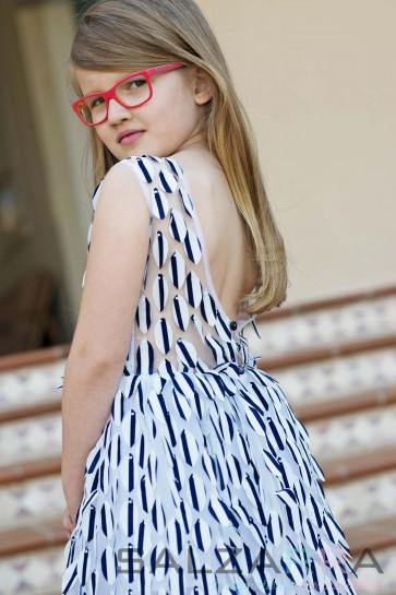 """Детска рокля """"Морето на Елиза""""-4"""