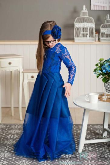 """Детска рокля """"Синята рокля на Джени""""1"""