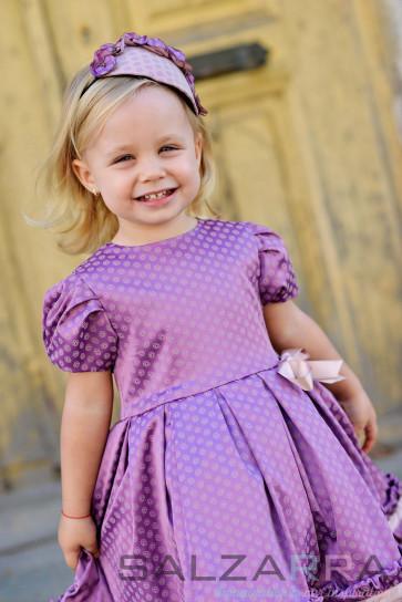 "Детска рокля ""Люляков дъжд"""