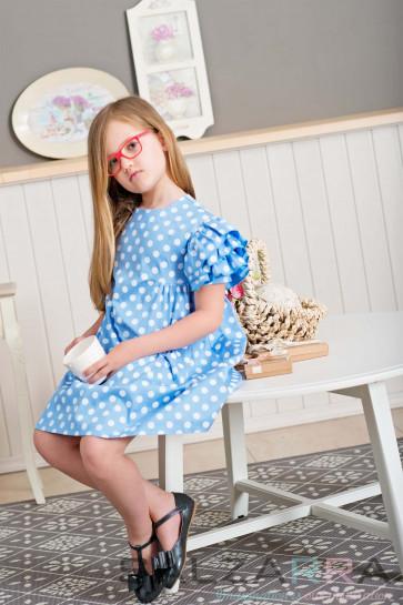 """Детска рокля """"Лятно небе"""" - 1"""