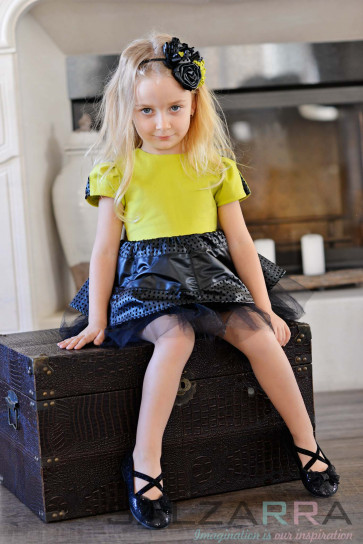 "Детска рокля ""Слънчева хризантема"" - 1"