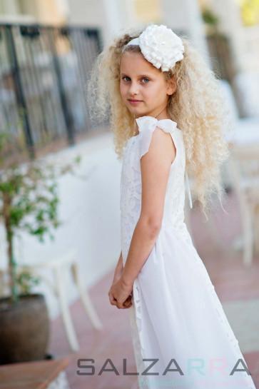 """Детска рокля """"Бели цветя за Бел"""" - 1"""