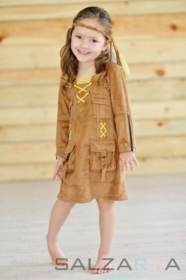 """Детска рокля-туника """"Покахонтас"""""""