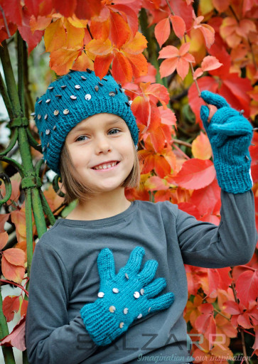 Детски шапка в зелено - 1
