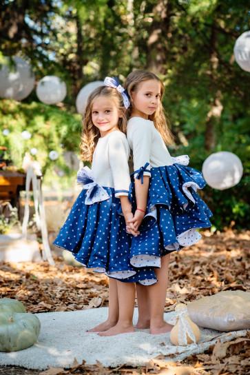 "Детска рокля ""Майски сняг"" 1"