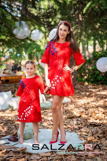 """Детска рокля """"Магия"""", СЕРИЯ """"SALZARRA МАМА&АЗ"""" 1"""