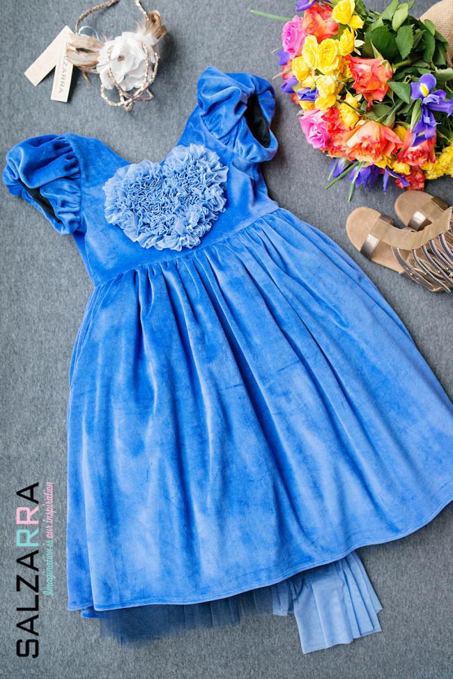 "21d3c723749 Детска рокля ""Виолетова перла"" Salzarra"