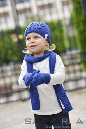 Детски шал в синьо