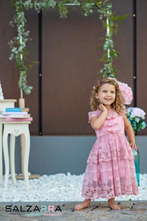 "Детска рокля ""ПЕПЕРУДИ В РОЗОВО"" 3"