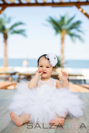 """Детска рокля """"Бяла роза"""" 2"""