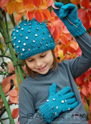 Детска шапка в зелено - 2