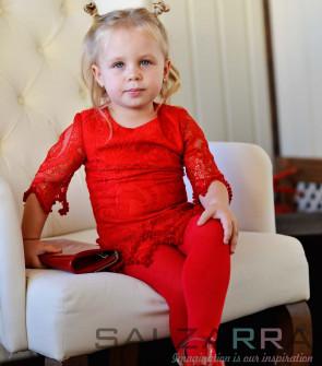 """Детски чорапогащник в червено """"SALZARRA"""" - 1"""