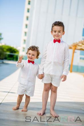 """Детска риза """"Бял класик"""" 2"""