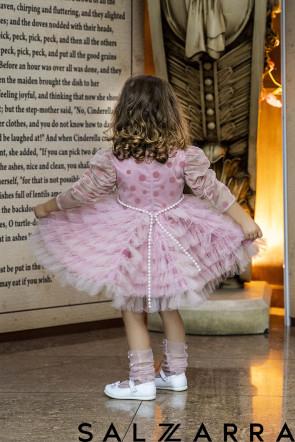 "Детска Луксозна рокля ""РОЗОВА ПЕРЛА"" 1"