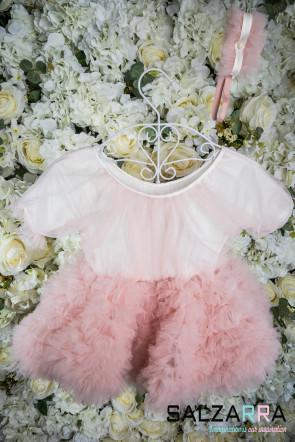 "Луксозна детска рокля ""БЕЛЛИСИМА"" /бледо розово/ 1"