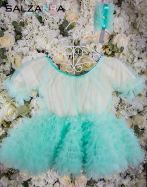 """Луксозна детска рокля """"БЕЛЛИСИМА"""" /мента/ 3"""