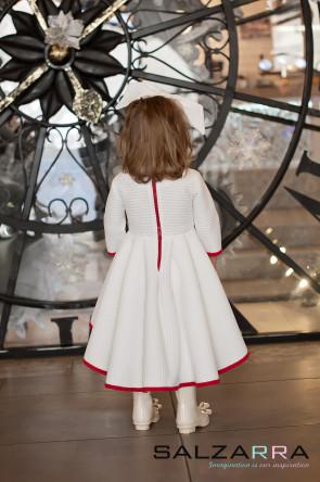 """Детска рокля """"Бял сняг"""" 2"""