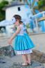 "Детска рокля ""Синьо лято"" 2"