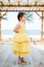 "Детска рокля ""Златисто сияние""  1"